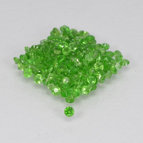 Green Chrome Diopside Gem - 0ct Round Facet (ID: 506068)