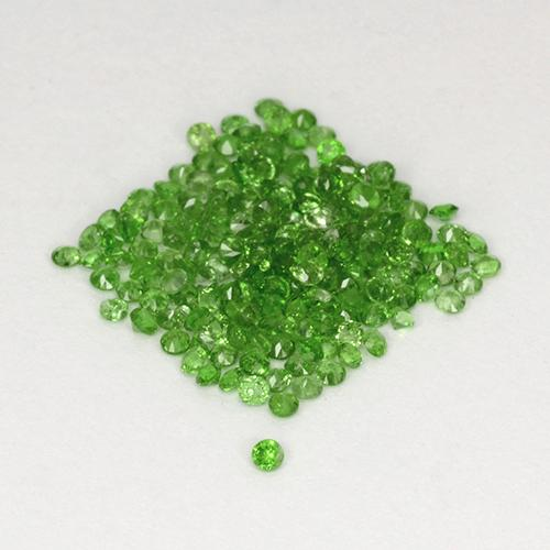 Green Chrome Diopside Gem - 0ct Round Facet (ID: 506069)