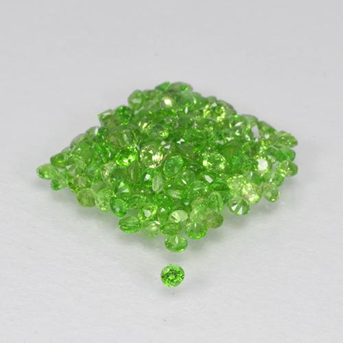 Green Chrome Diopside Gem - 0ct Round Facet (ID: 506070)