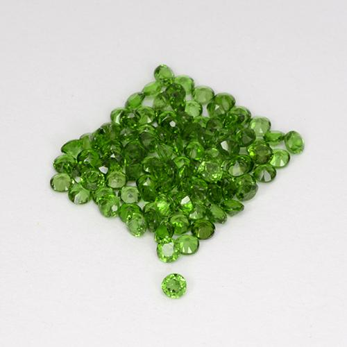 0ct Faceta Redonda Medium-Dark Green Cromodiópsido Gema (ID: 508516)