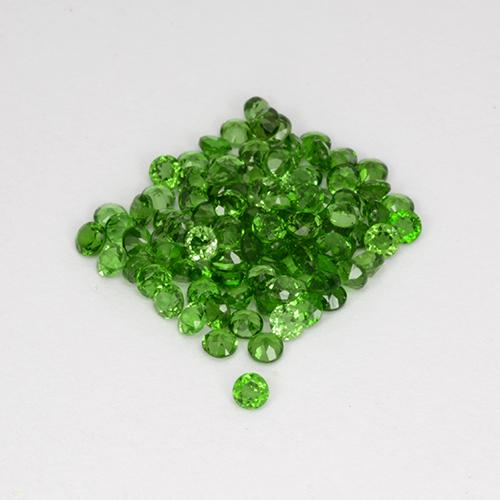 0ct Faceta Redonda Medium-Dark Green Cromodiópsido Gema (ID: 508517)