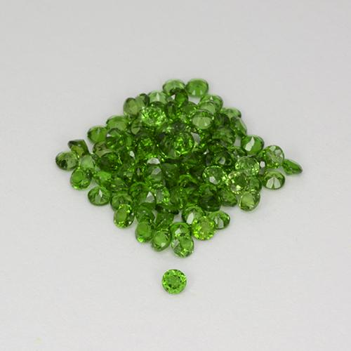 Green Chrome Diopside Gem - 0ct Round Facet (ID: 508521)