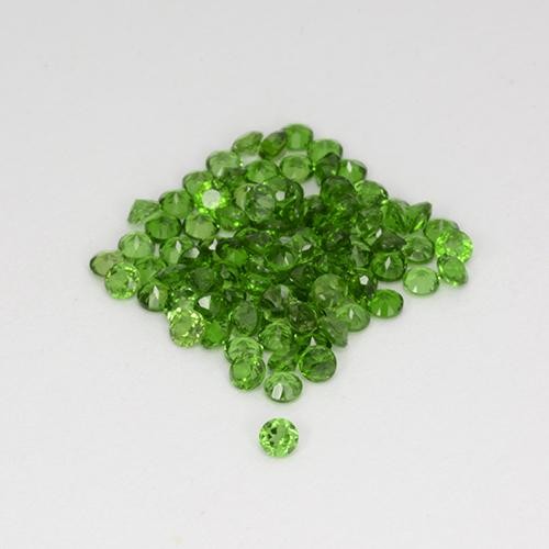 0.03 ct Sfaccettatura rotonda Verde scuro Cromo diopside Gem 1.80 mm  (Photo A)