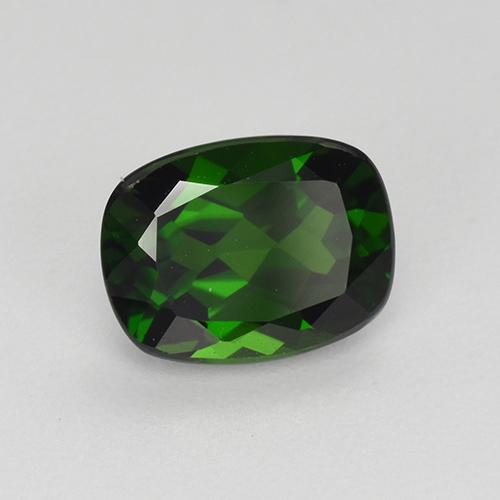 Green Chrome Diopside Gem - 1.5ct Cushion-Cut (ID: 510906)