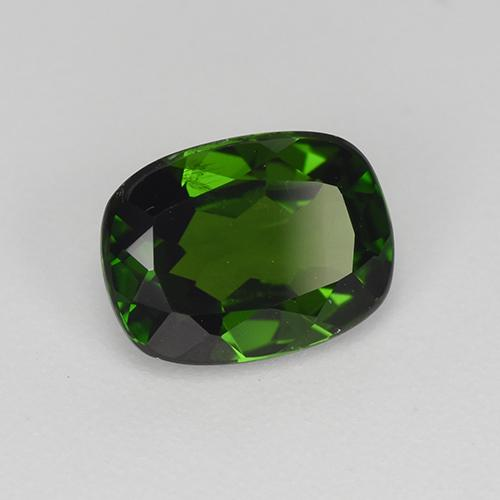 1.4ct Cushion-Cut Forest Green Chrome Diopside Gem (ID: 510908)