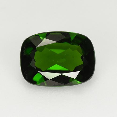 1.3ct Cushion-Cut Forest Green Chrome Diopside Gem (ID: 510911)