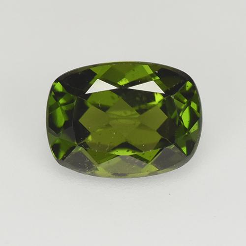 Forest Green Chrome Diopside Gem - 1.4ct Cushion-Cut (ID: 510914)