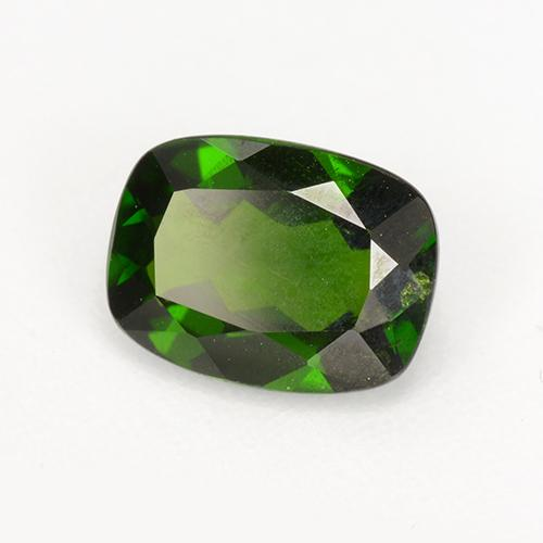 Deep Green Chrome Diopside Gem - 1.5ct Cushion-Cut (ID: 510943)