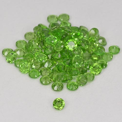 0ct Faceta Redonda Medium-Dark Green Cromodiópsido Gema (ID: 516991)