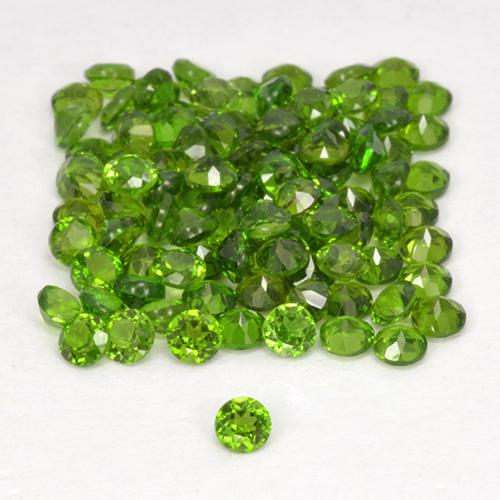 0.03 ct Sfaccettatura rotonda Seaweed Green Cromo diopside Gem 1.74 mm  (Photo A)