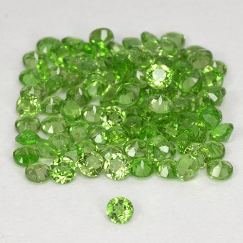 Green Chrome Diopside Gem - 0ct Round Facet (ID: 516996)