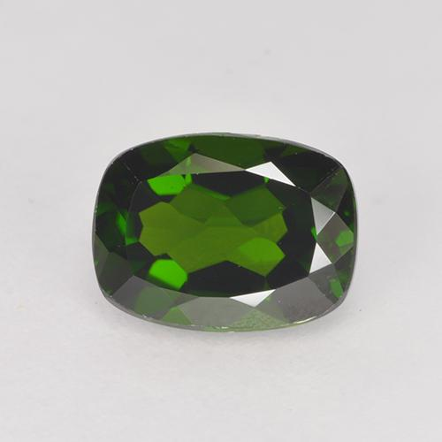1.4ct Cushion-Cut Dark Green Chrome Diopside Gem (ID: 524232)