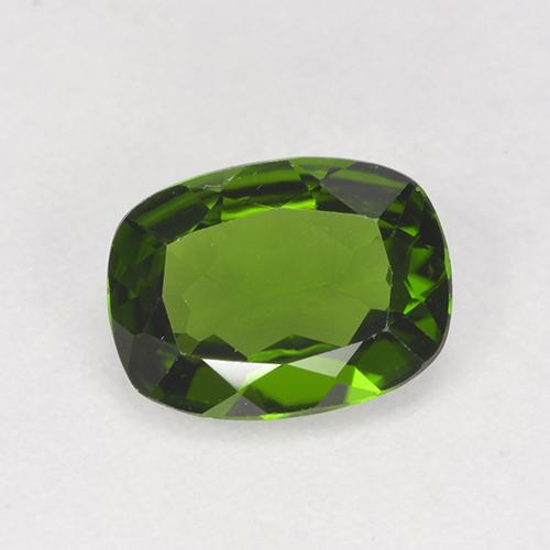 Medium Green Chrome Diopside Gem - 1.2ct Cushion-Cut (ID: 524233)