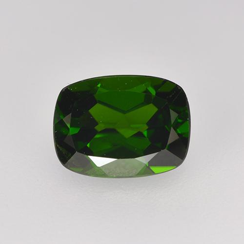 1.6ct Cushion-Cut Forest Green Chrome Diopside Gem (ID: 524236)