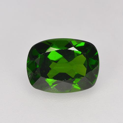 1.5ct Cushion-Cut Forest Green Chrome Diopside Gem (ID: 524240)