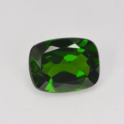 1.4ct Cushion-Cut Dark Green Chrome Diopside Gem (ID: 524243)