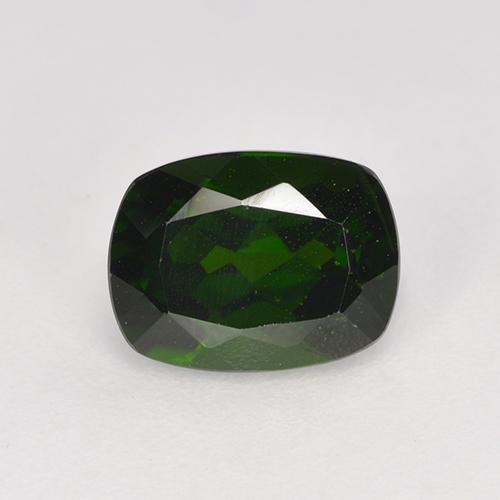 1.69 ct Taglio a cuscino Very Dark Green Cromo diopside Pietra preziosa 8.13 mm x 6.2 mm (Product ID: 524246)