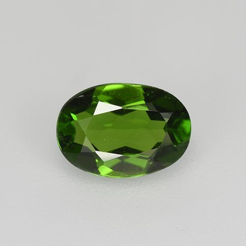 Medium-Dark Green Cromodiópsido Gema - 0.6ct Forma ovalada (ID: 524280)