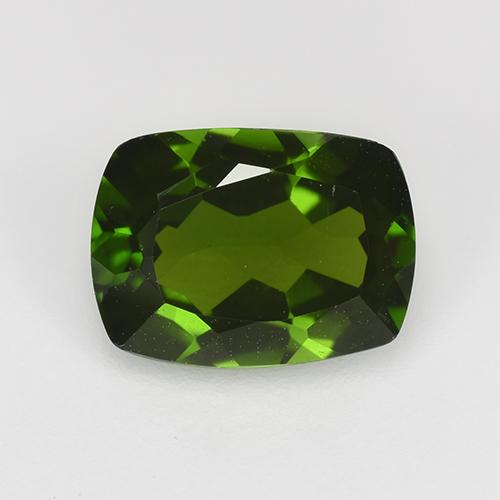 1.4ct Cushion-Cut Dark Green Chrome Diopside Gem (ID: 524562)
