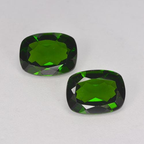 1.3ct Cushion-Cut Dark Green Chrome Diopside Gem (ID: 524604)