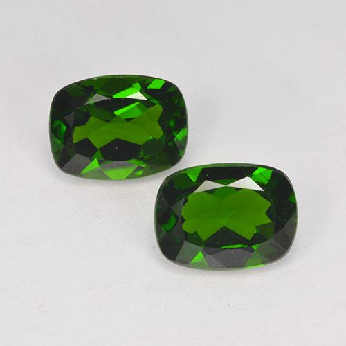 Deep Green Chrome Diopside Gem - 1.4ct Cushion-Cut (ID: 524605)