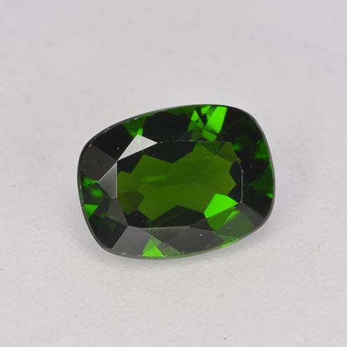 1.3ct Cushion-Cut Forest Green Chrome Diopside Gem (ID: 524606)