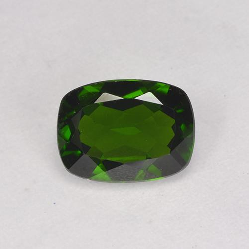 1.3ct Cushion-Cut Forest Green Chrome Diopside Gem (ID: 524609)