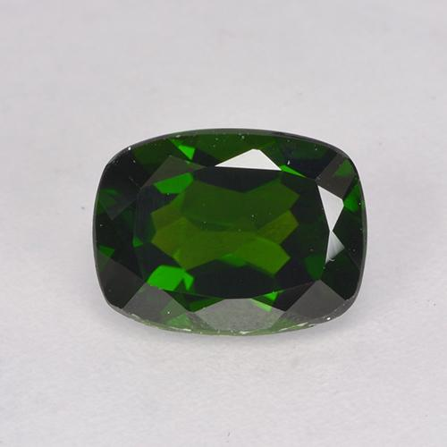 1.5ct Cushion-Cut Forest Green Chrome Diopside Gem (ID: 524614)