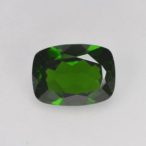 1.5ct Cushion-Cut Forest Green Chrome Diopside Gem (ID: 524620)