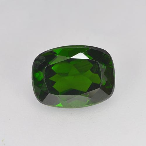 1.5ct Cushion-Cut Forest Green Chrome Diopside Gem (ID: 524621)