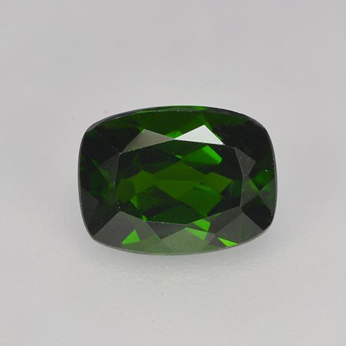 1.6ct Cushion-Cut Forest Green Chrome Diopside Gem (ID: 524624)