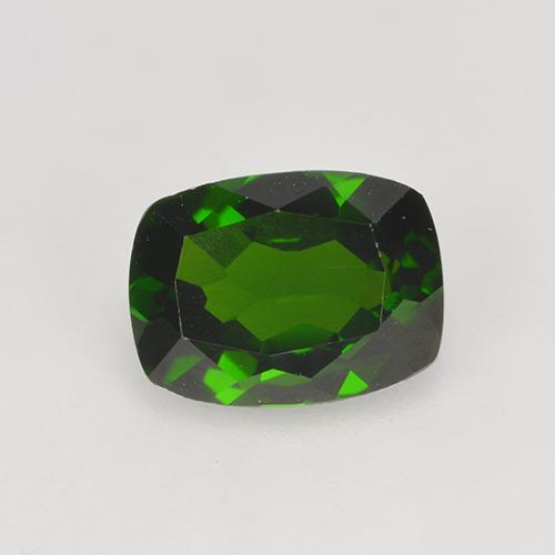 1.5ct Cushion-Cut Dark Green Chrome Diopside Gem (ID: 524628)