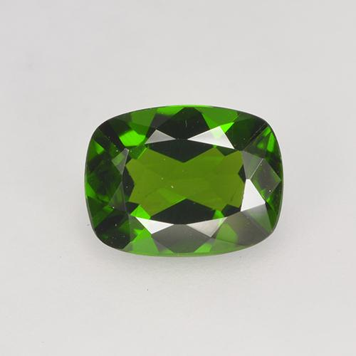 1.4ct Cushion-Cut Forest Green Chrome Diopside Gem (ID: 524631)