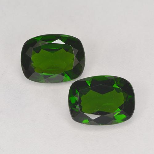 1.27 ct Cushion-Cut Forest Green Chrome Diopside Gemstone 8.15 mm x 6.1 mm (Product ID: 525251)