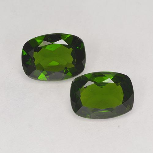 1.2ct Cushion-Cut Dark Green Chrome Diopside Gem (ID: 525252)