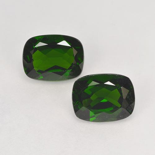 1.4ct Cushion-Cut Forest Green Chrome Diopside Gem (ID: 525253)