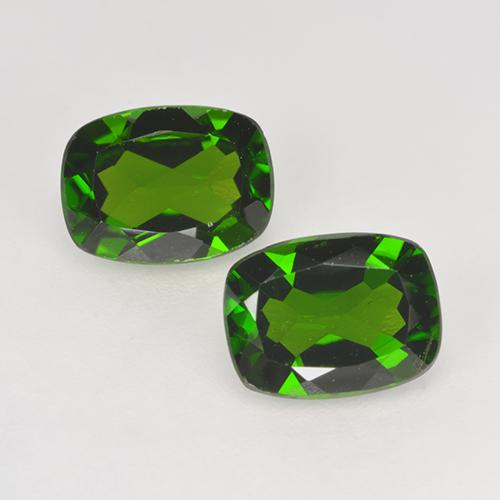 1.38 ct Taglio a cuscino Verde scuro Cromo diopside Gem 8.08 mm x 6.1 mm (Photo A)