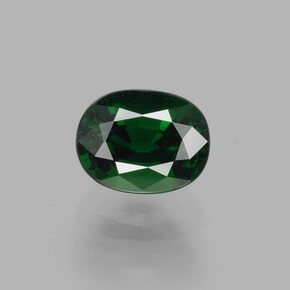 Forest Green Chrome Tourmaline Gem - 1.1ct Oval Facet (ID: 362898)