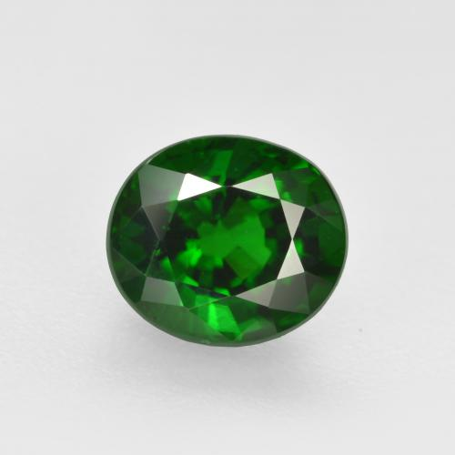 Deep Green Chrome Tourmaline Gem - 1.1ct Oval Facet (ID: 362905)
