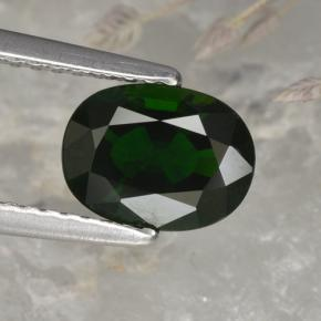 1.2ct Oval Facet Green Chrome Tourmaline Gem (ID: 376959)