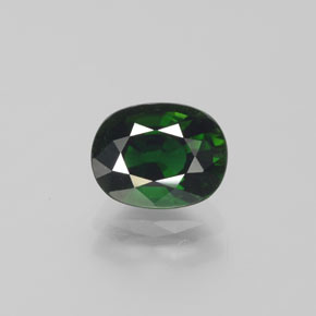 thumb image of 1.4ct Oval Facet Green Chrome Tourmaline (ID: 377276)