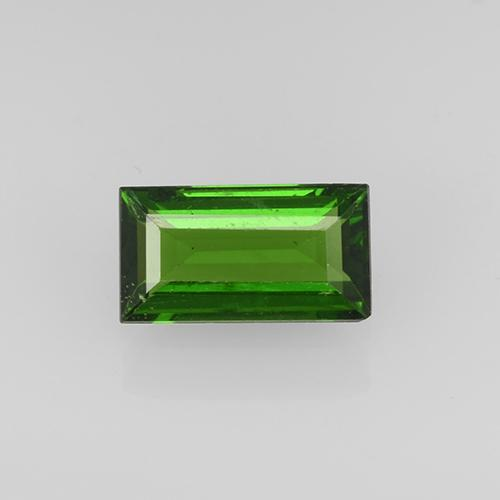 Forest Green Chrome Tourmaline Gem - 0.4ct Baguette Step Cut (ID: 504956)