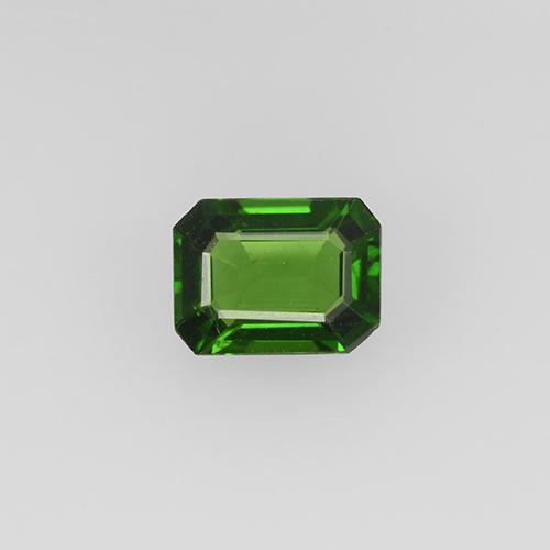 0.30 ct Octagon Step Cut Dark Green Chrome Tourmaline Gemstone 4.95 mm x 3.7 mm (Product ID: 504960)