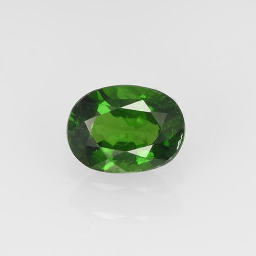 Medium-Dark Green Chrome Tourmaline Gem - 0.4ct Oval Facet (ID: 504966)