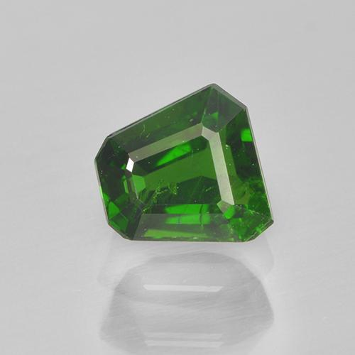 Medium-Dark Green Chrome Tourmaline Gem - 0.5ct Trapezoid (ID: 505057)