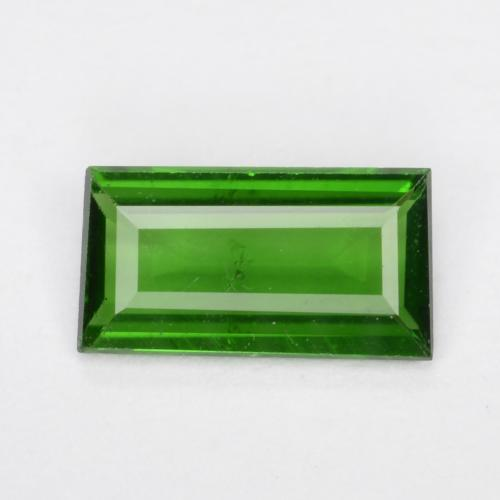 Lively Green Chrome Tourmaline Gem - 0.3ct Baguette Step Cut (ID: 505062)