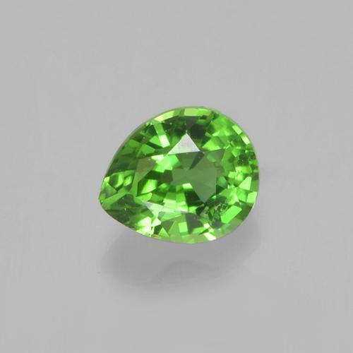 Lively Green Chrome Tourmaline Gem - 0.2ct Pear Facet (ID: 505102)