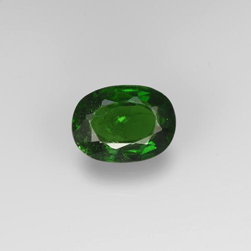 Forest Green Chrome Tourmaline Gem - 0.6ct Oval Facet (ID: 505103)