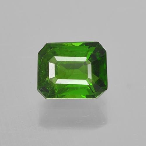 Medium-Dark Green Chrome Tourmaline Gem - 0.5ct Octagon Step Cut (ID: 505104)