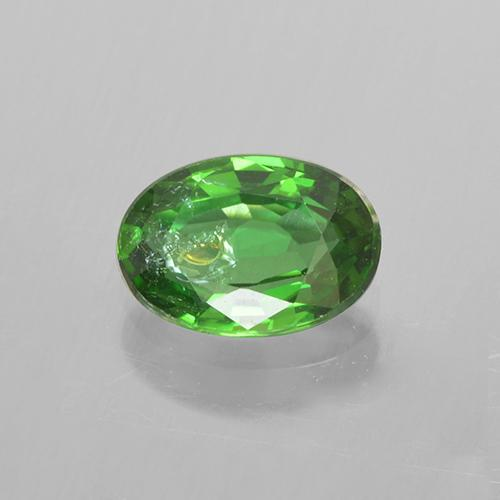 Medium Green Chrome Tourmaline Gem - 0.4ct Oval Facet (ID: 505108)